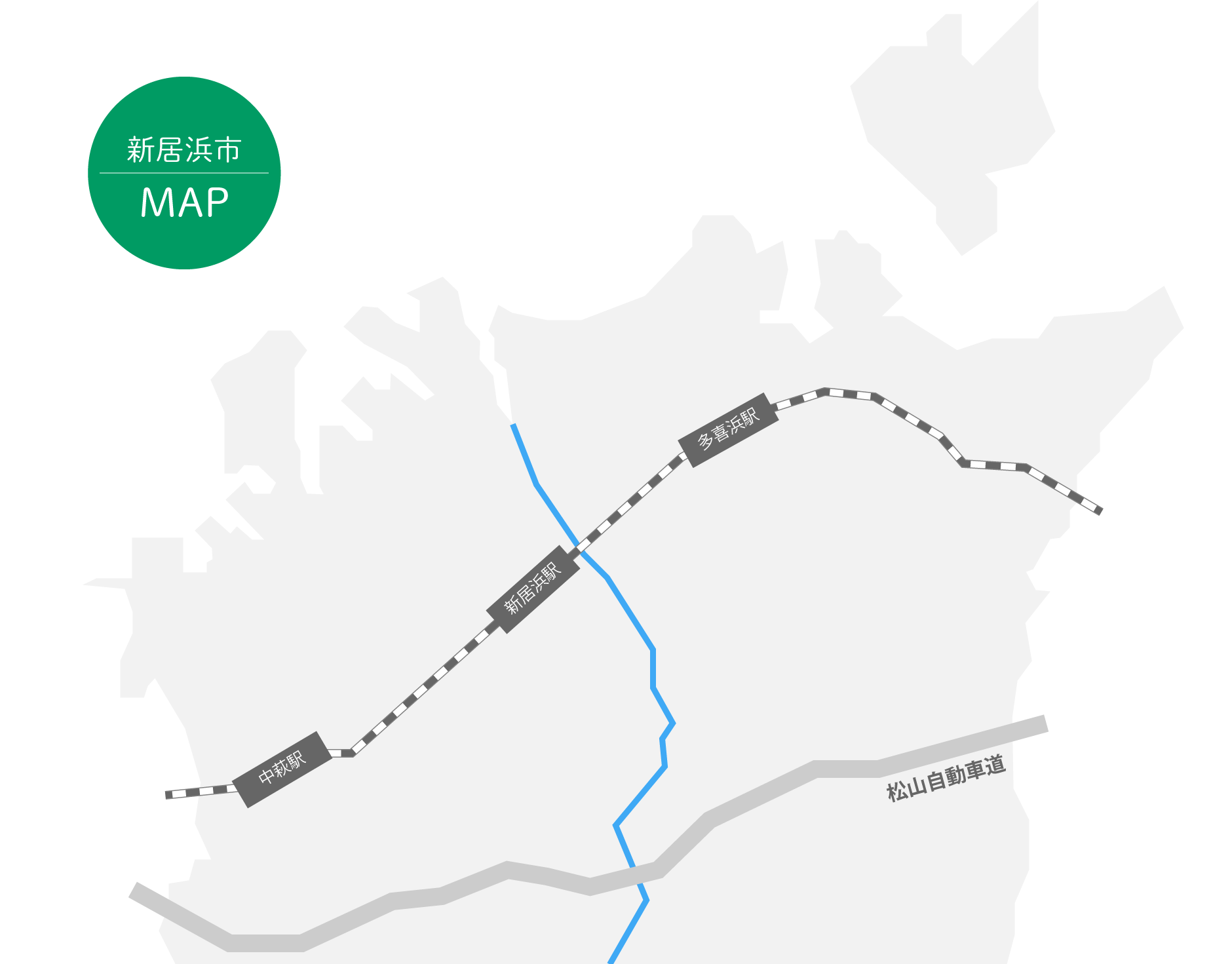 新居浜地図